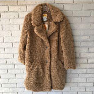 NWT! C&C California Faux Sherpa Jacket in Size XL